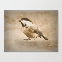 Rustic Chickadee Bird Modern Country Farmhouse Cottage Art A488 Canvas Print