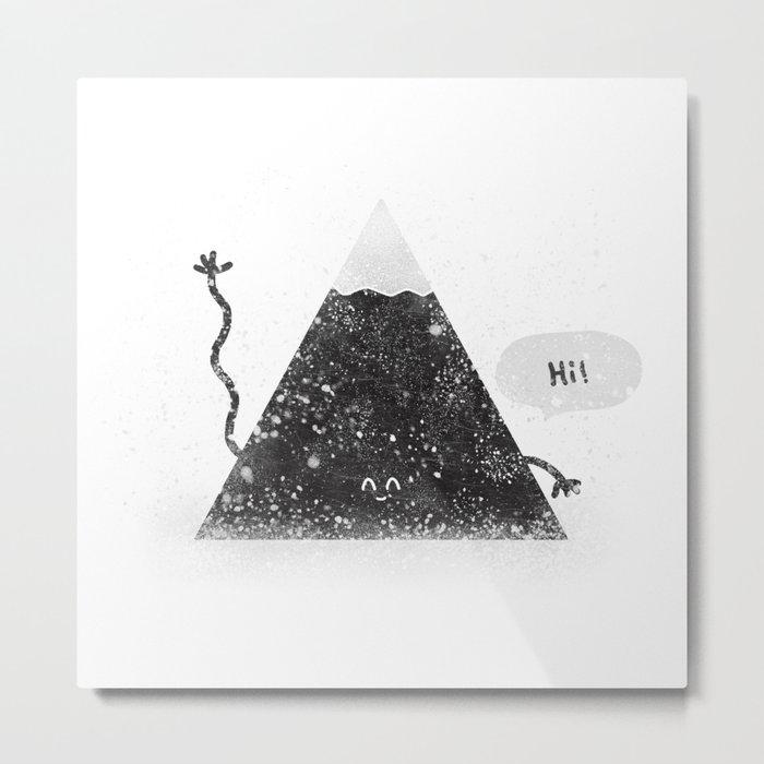 Happy Mountain Metal Print