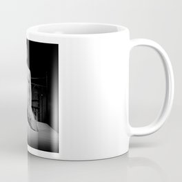 Nude and waiting - Woman naked on a bed Coffee Mug