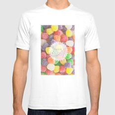 I Want Candy: Gumdrops MEDIUM White Mens Fitted Tee