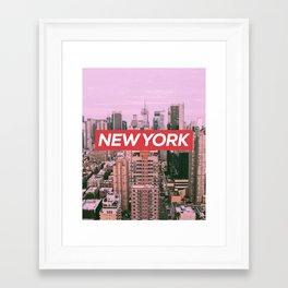 New York City (Vintage Collection) Framed Art Print