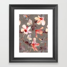 Coral Hibiscus Framed Art Print
