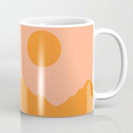 Peachy Orange Minimalist Mountainscape Coffee Mug