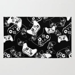 Video Game White on Black Rug