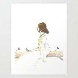 Palm Key (Illustration) Art Print