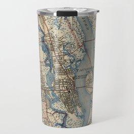 Vintage Map of St. Augustine Florida (1937) Travel Mug