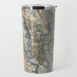 Vintage Map of St. Augustine Florida (1937) Travel Mug