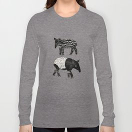Malayan Tapir & Baby Long Sleeve T-shirt