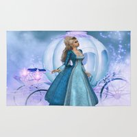 cinderella Area & Throw Rugs featuring Cinderella by Fairytale Art