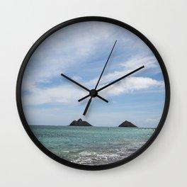 Lanikai Beach, Kailua, Oahu, Hawaii Wall Clock