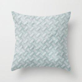 Metal plate Throw Pillow