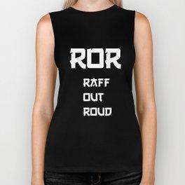 Raff Out Roud Asian Stereotype Joke T-Shirt Biker Tank