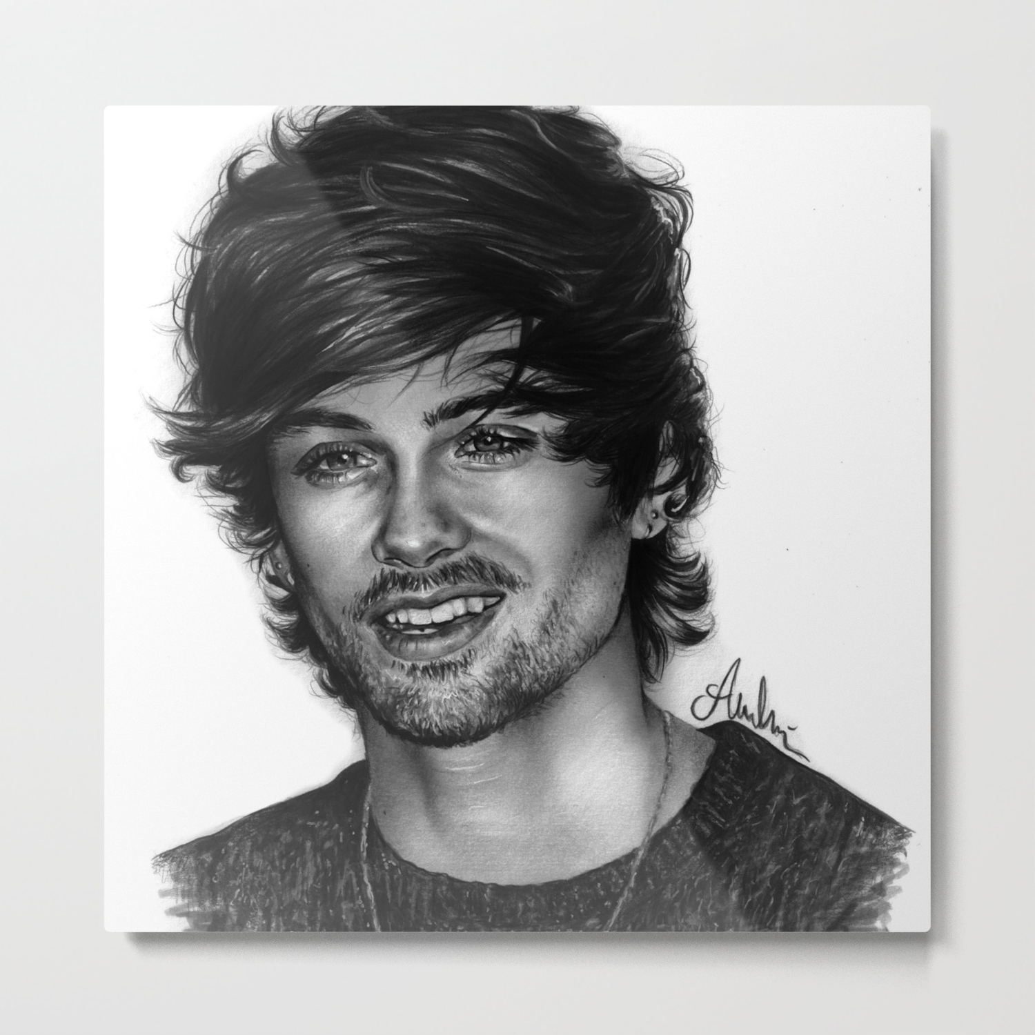Zayn malik pencil drawing by annasartwork metal print
