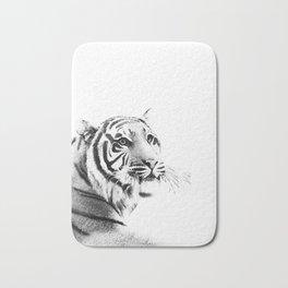 Tiger Black & White #1 #decor #art #society6 Bath Mat