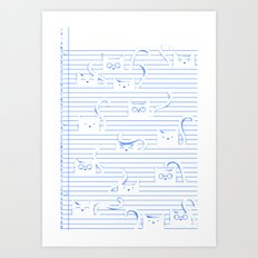 Fuzzy Homework {clean} Art Print