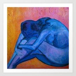 Blue Indigo Art Print
