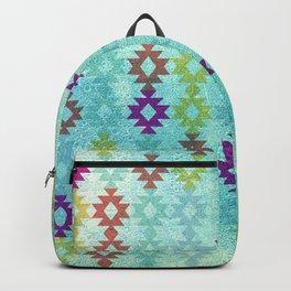 Santa Fe Dreams Geometric Aztec Colorful Design Backpack