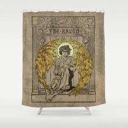 The Raven. 1884 edition cover Shower Curtain