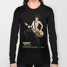 Sid Vicious Pixel Art Long Sleeve T-shirt