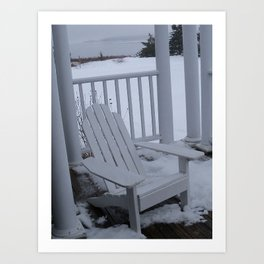 Winter Seaside 1 Art Print