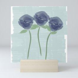 Watercolor Roses Are Blue Mini Art Print