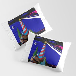 A Night at the Lighthouse with Search Light Active Pillow Sham