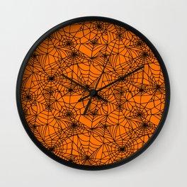 Halloween Cobwebs Wall Clock