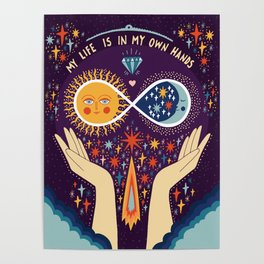 My life is in my own hands Poster