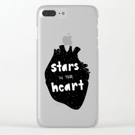 Stars in your Heart Clear iPhone Case