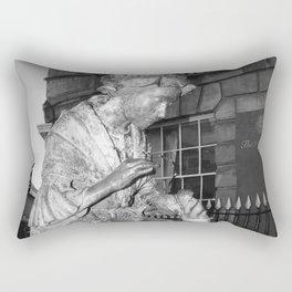 The Leics Seemstress Black And White Rectangular Pillow