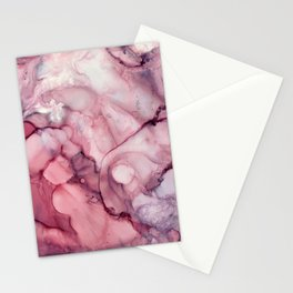 Liquid Mauve Abstract Stationery Cards