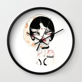 Lady Moon Wall Clock