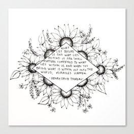 Thoreau Sunflower Canvas Print