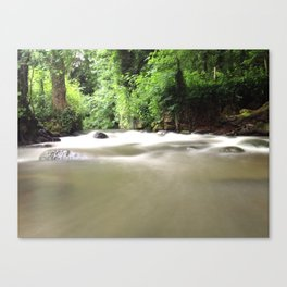 Water on the Weir - iPhoneography Canvas Print