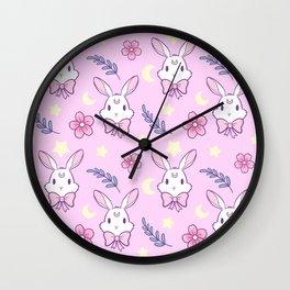 Sakura Bunny // Pink Wall Clock