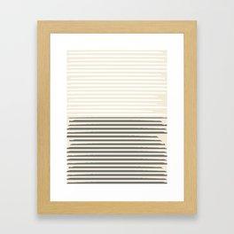 Brush Lines Pattern #society6 #decor #buyart Framed Art Print