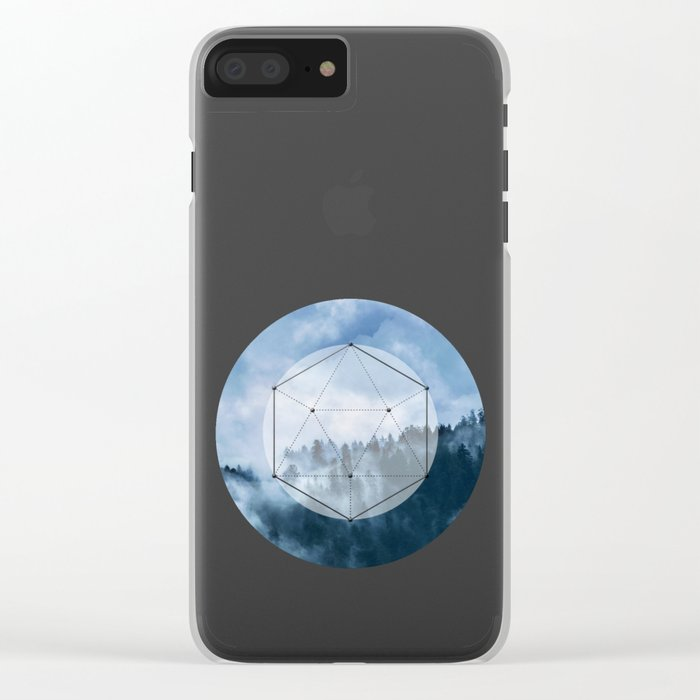 Wander into the wild blue mountains Clear iPhone Case