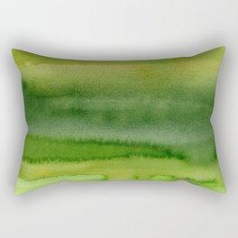Spring Greens Abstract Watercolor Horizontal Pattern Rectangular Pillow
