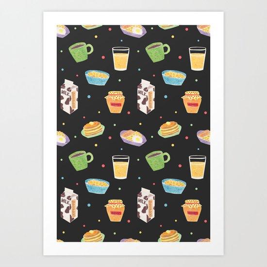 Yummy Breakfast Art Print