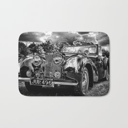 Black old car Bath Mat
