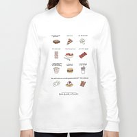 parks and rec Long Sleeve T-shirts featuring Foods of Parks and Rec by Tyler Feder
