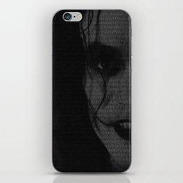 The Crow Screenplay Print (B&W) iPhone Skin