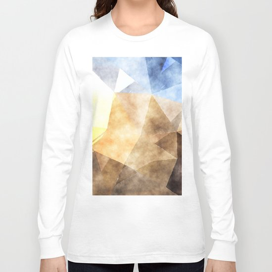 On the fields- Abstract watercolor triangle pattern Long Sleeve T-shirt