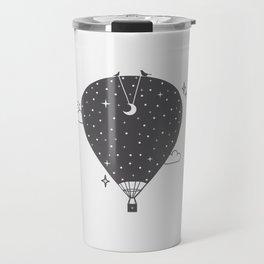 Hot air balloon at night Travel Mug