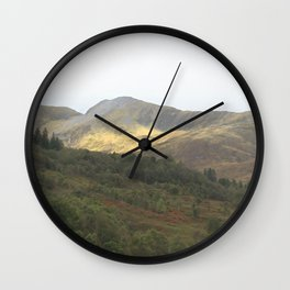 There's gold in the hills - Kinlochleven, Scotland Wall Clock