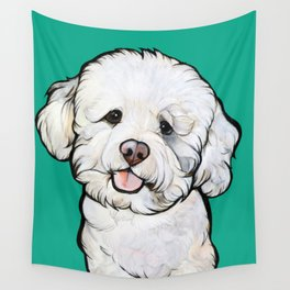Gracie the Bichon Wall Tapestry