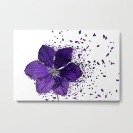 Purple flower Explosion Metal Print