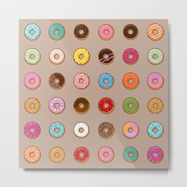 Colorful Doughnuts Metal Print