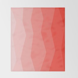 Cool Geometric Living Coral Gradient abstract Throw Blanket