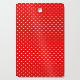 Red with white polka dots Cutting Board